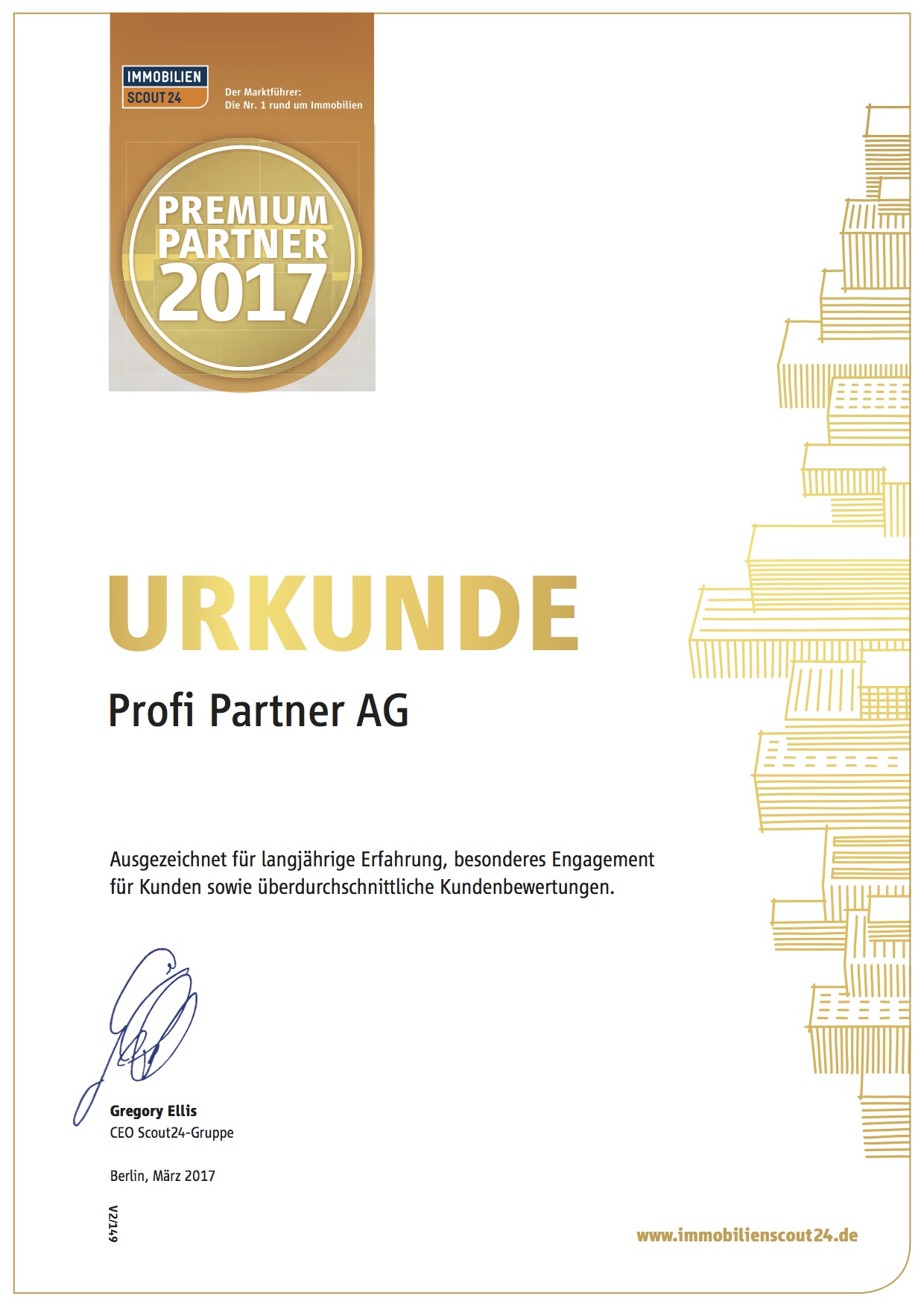 Urkunde Premiumpartner2017