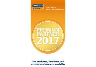 Auszeichnung zum PREMIUM PARTNER 2017 bei Immoscout24