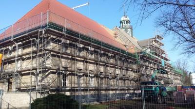 Baubeginn im Haus 13 des Ludwig Hoffmann Quartiers