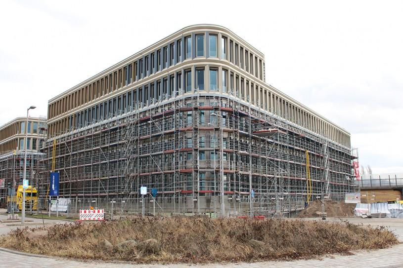 Baufortschritt 02/2020 und neues Musterbüro in der BRAIN BOX