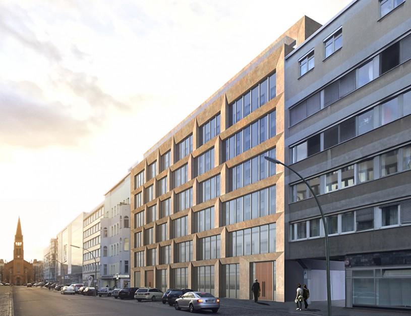 Neubau des Hightech-Bürohauses in der Genthiner Straße 32-34